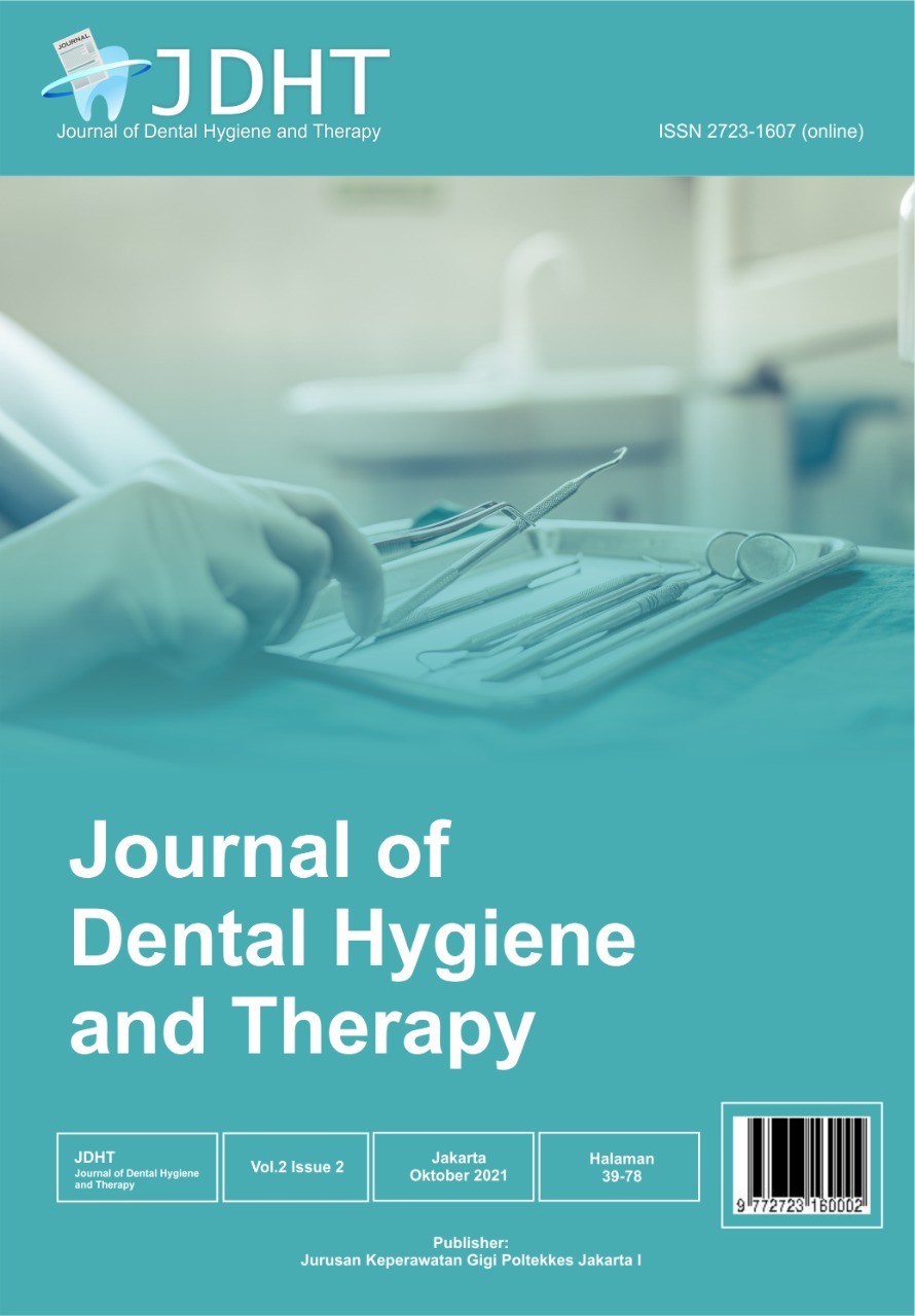 View Vol. 2 No. 2 (2021): JDHT Journal of Dental Hygiene and Therapy